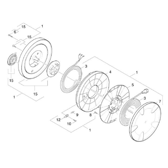 Karcher Enrouleur Cable Alimentation Complet Pour Nettoyeur Haute-pression - 42045130