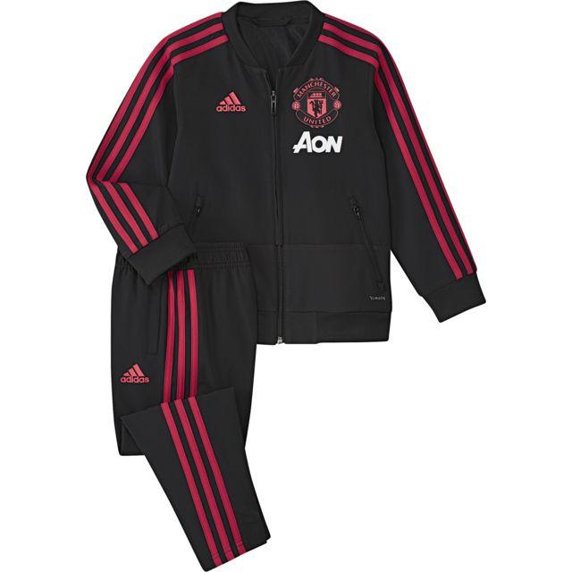 35ffb7d25fd6d Adidas - Survêtement junior Manchester United 2018/19 noir/rouge ...