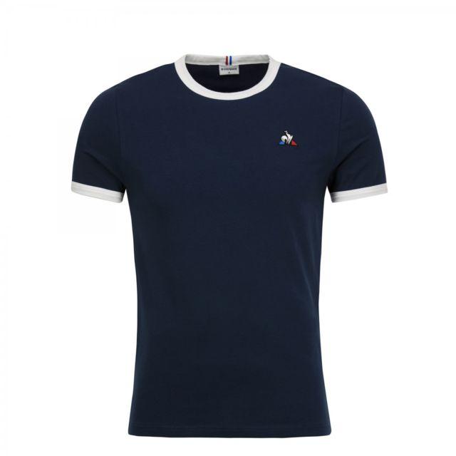 Le Coq Sportif T shirt Tee Ss N4 1820552 Bleu pas cher