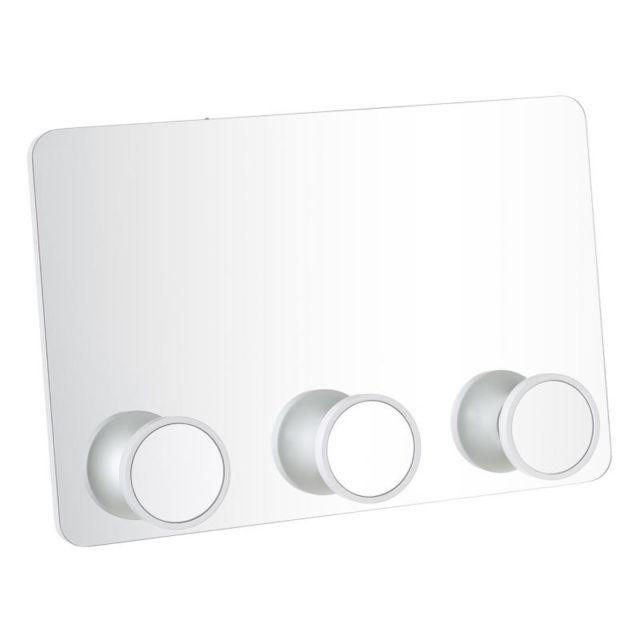Tousmesmeubles Miroir portemanteaux Bois blanc taille M - Tonka