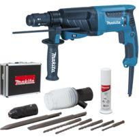 Makita - Perfo-burineur SDS-Plus - 800W 26 mm + coffret alu + kit d'accessoires - HR2630TX4
