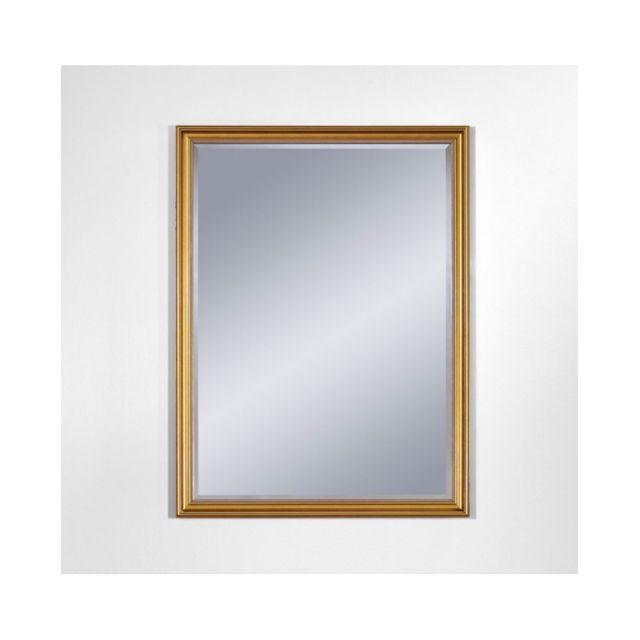 Deknudt Mirrors Miroir Ankara Gold Small Traditionnel Classique Rectangulaire Dorée 54x75 cm