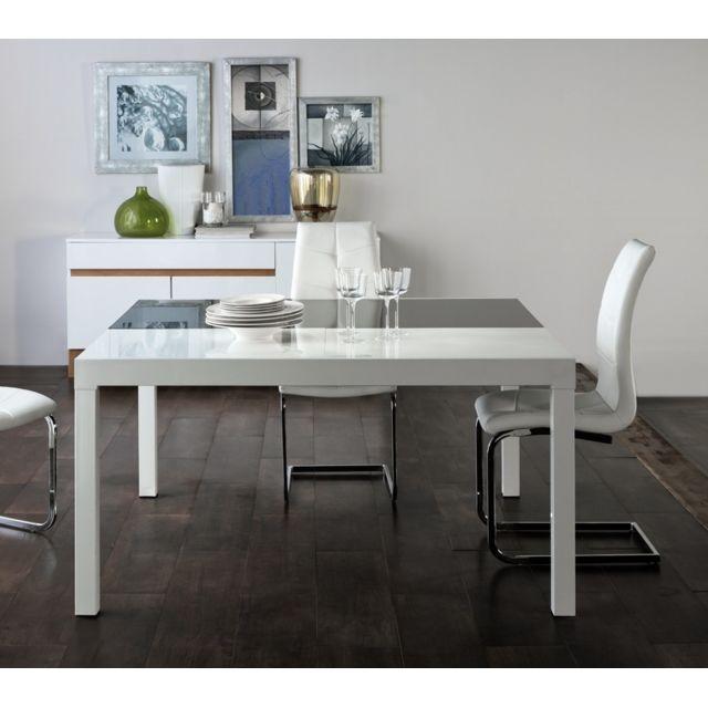 Tousmesmeubles Table de repas extensible - Umala - L 140 x l 140 x H 76