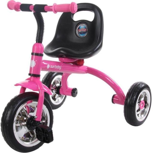 sun baby tricycle enfant b b 24 36 mois rose pas. Black Bedroom Furniture Sets. Home Design Ideas