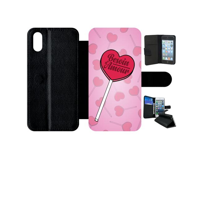 coque iphone x rose pale apple
