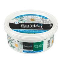 Boldair - Désodorisant gel destructeur d'odeurs thé vert - pot de 300 gr