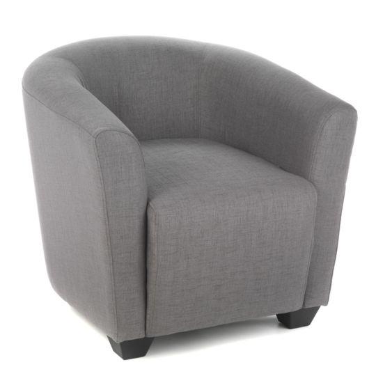 alin a ines salon fauteuil cabriolet gris pas cher achat vente fauteuils rueducommerce. Black Bedroom Furniture Sets. Home Design Ideas