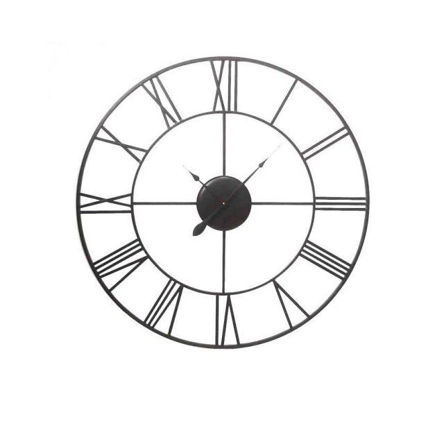 Usines Discount Vintage Horloge Murale Métal 40cm De Diametre