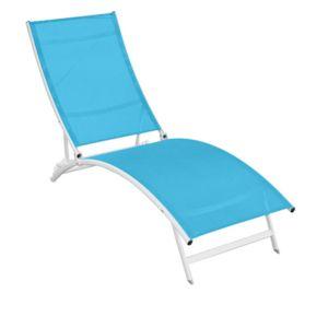 Sunnydays chaise longue catania turquoise bleu pas for Chaise longue bleu turquoise