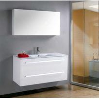 Items France - Megeve - Grand meuble simple vasque de salle de bain contemporain