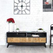 Meuble tv industrielle achat meuble tv industrielle pas for Meuble tv rue du commerce