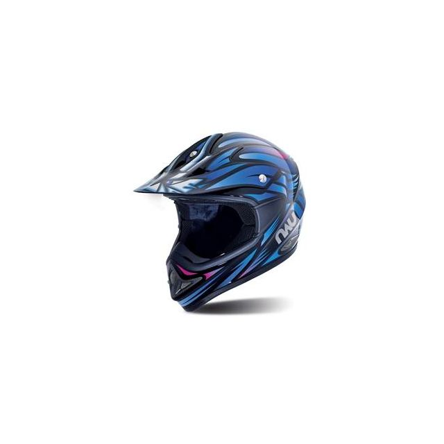 Nau Casque Moto Cross N45 Predator Noir Multicoleur Taille S