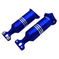 RAKONHELI - Supports de patins d'atterrissage alu bleu Pod 250 - Rakon Heli