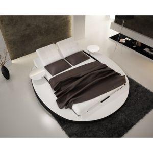 cosy tendance lit rond songe 3 160 200 cm sommier offert dessus blanc contour bas. Black Bedroom Furniture Sets. Home Design Ideas