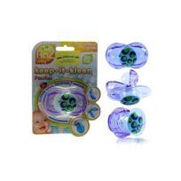 Razbaby - Purple Dots - tétine silicone Bpa Free - fermeture automatique
