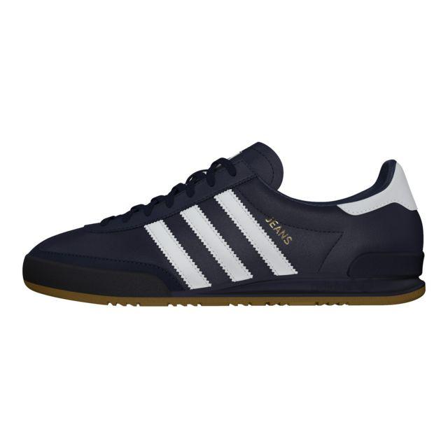 adidas Jeans bleu marine et blanc Chaussures Baskets homme