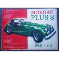 Universel - Plaque morgan plus 8 voiture cabriolet vert tole affiche pub