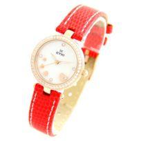 Eyki Femme - Montre Femme bracelet Cuir Rouge Eyki Seiko 2576