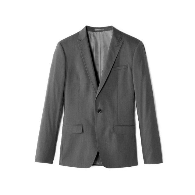 veste de costume grise pour homme pas cher