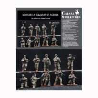 Caesar Miniatures - Figurines militaires soldats Us Army époque moderne en action