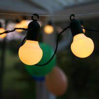 Best Season - Party Light - Guirlande d'extérieur Led 20 Lumières Blanc à crochet L10,7m - Luminaire d'extérieur designé par