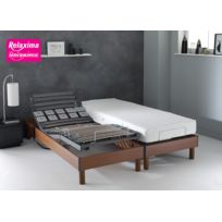 Relaxima - Ensemble Relaxation : Matelas 100% Latex Dunlopillo sommier de relaxation 5 plans de couchage