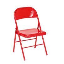 Chaise Pliante Mtal Rouge