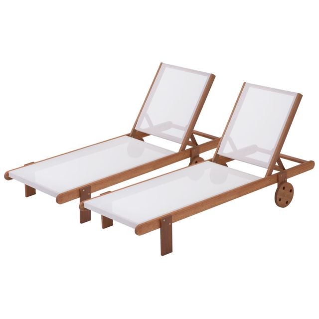 HABITAT ET JARDIN - Bain de soleil en bois exotique Saïgon - Maple ...