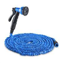 WALDBECK - Flex 22 Tuyau d'arrosage flexible pour jardin 8 fonctions 22,5 m - bleu