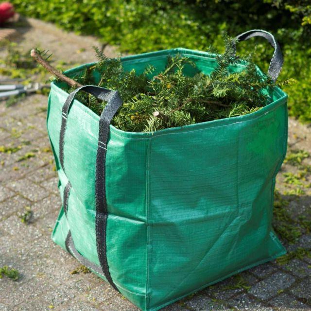 Sac à déchets de jardin carré Vert 148 L