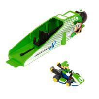 Jakks Pacific - Voiture + Lanceur Nintendo : Mario Kart 8 : Luigi