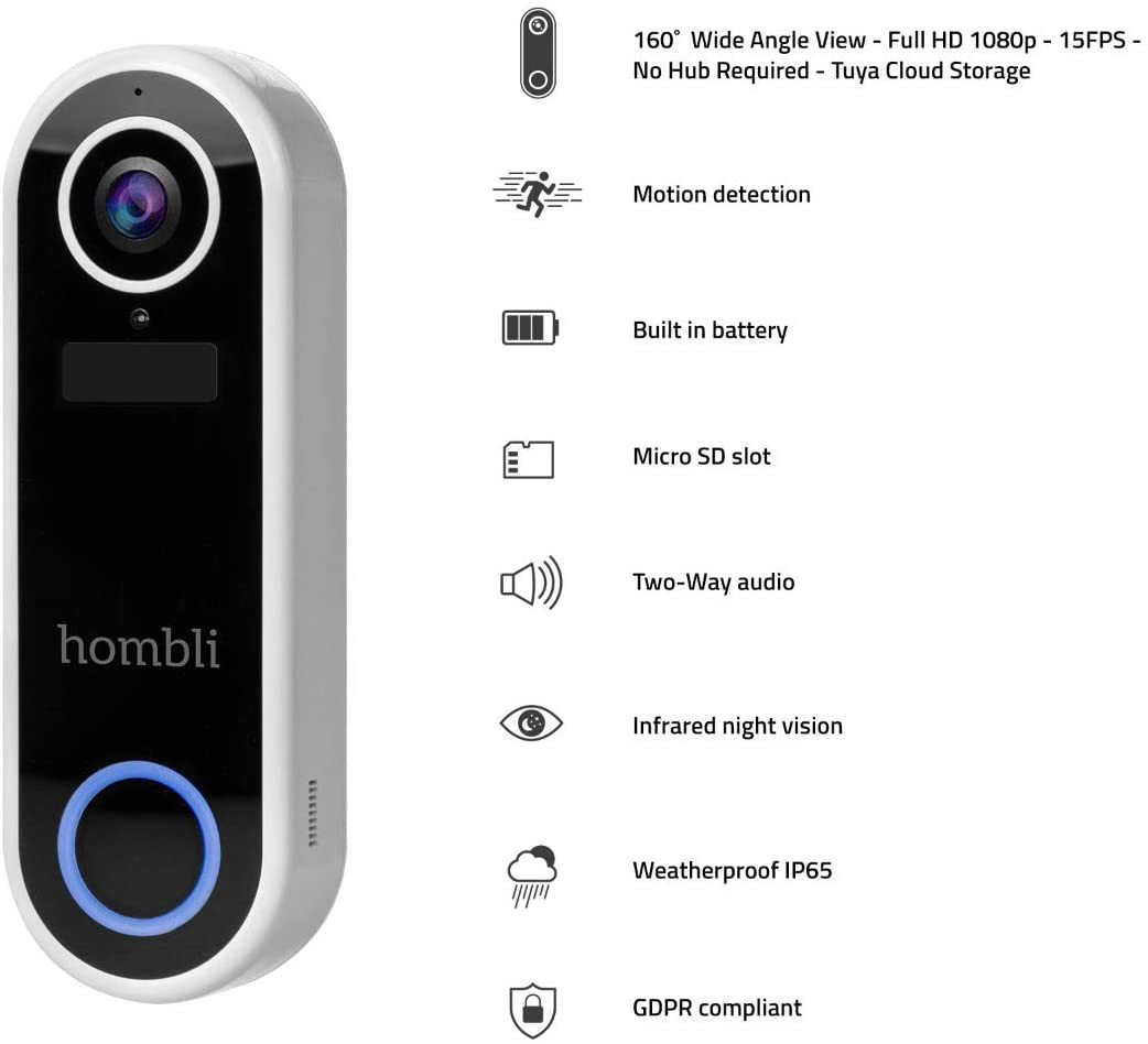 Smart Doorbell - Sonnette connectée 1080p