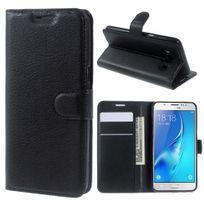 Kabiloo - Etui type portefeuille noir pour Samsung Galaxy A5-2016 avec rabat latéral articulé fonction stand