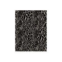 Declikdeco - Papier Peint Easy Tiger Black Silver