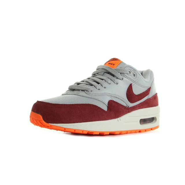 Nike - Air max 1 essential Gris, Bordeaux, Orange - 38 - pas cher Achat / Vente Baskets femme - RueDuCommerce