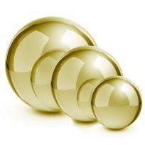 Blumfeldt - Golden Globes Set de 3 boules décoratives dorées 13/20/28 cm inox