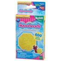 Aquabeads - Recharge de 600 perles à facettes jaunes