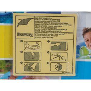 bestway kit r paration gonflable piscine patchs de r paration blanc 82520 pas cher achat. Black Bedroom Furniture Sets. Home Design Ideas