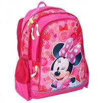 Minnie Mouse - Minnie Sac à dos scolaire cartable école enfant fille Disney - Rose