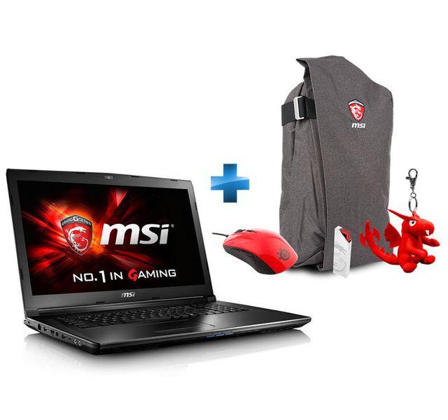 MSI - GL72 7QF-1031XFR - Noir + Pack GS : Sac à dos + Porte-clé Dragon + Souris Gaming + I-Key