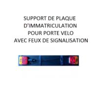 Peraline - Rampe Support de plaque d immatriculation pour porte vélo Pe