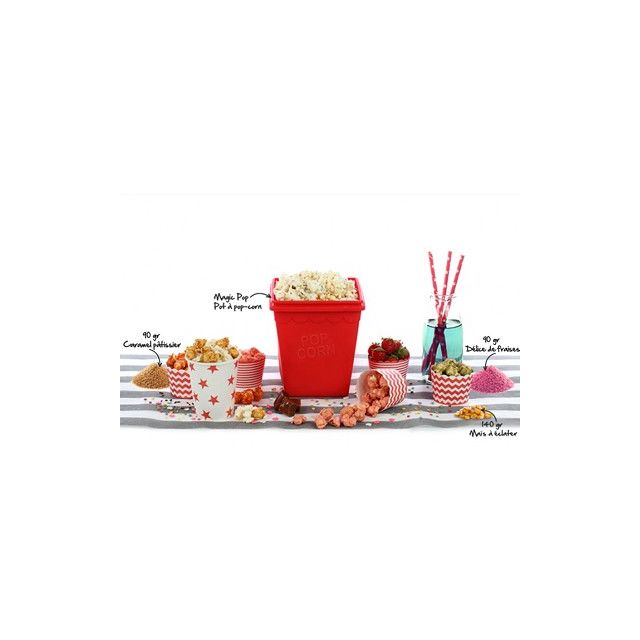Yoko Design Coffret Pop Corn Rouge