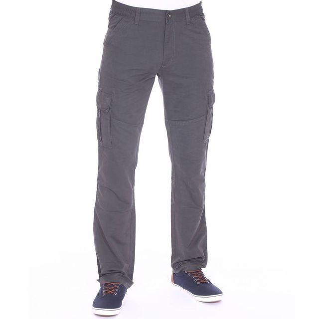 41d6df699da Tbs - Pantalon cargo Fupcot gris anthracite à ceinture élastiquée - pas  cher Achat   Vente Pantalon homme - RueDuCommerce