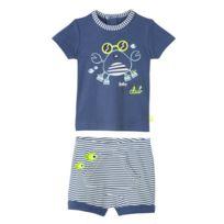 d070c3ad582f8 Petit Beguin - Ensemble bébé garçon t-shirt + short Baby Beach Club - Taille