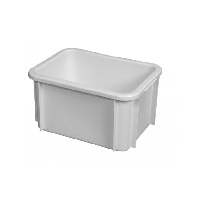 Gilac Bac Rectangulaire Empilable 15 Litres Blanc