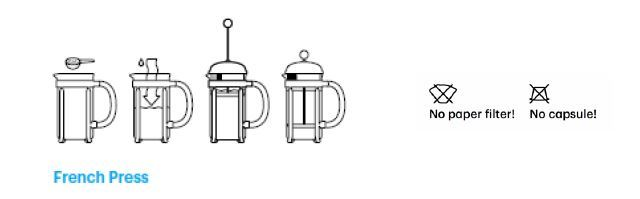 Bodum eileen 39 cafeti re piston 3 tasses l - Utilisation cafetiere a piston ...