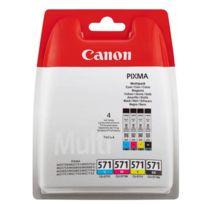 CANON - CLI-571 - Pack de 4 cartouches Noires et couleurs