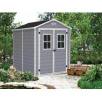 KETER - Premium 68 - Abri de jardin en résine - 4,40m² - Gris