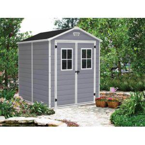 keter abri de jardin r sine premium 86 gris 4 4 m 2. Black Bedroom Furniture Sets. Home Design Ideas