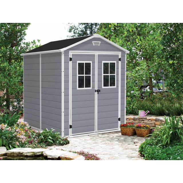 KETER - Premium 68 - Abri de jardin en résine - 4,40m² - Gris - pas ...